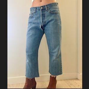 Vintage Levi's 501 Cropped Flare Jeans